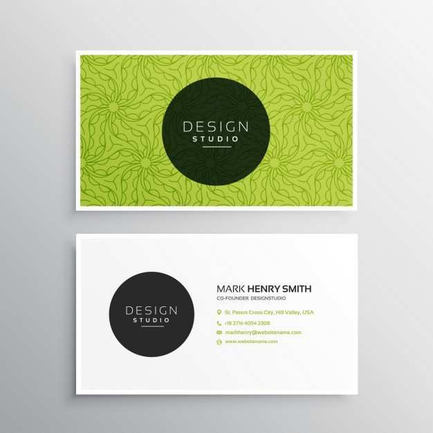 70 Best Business Card Template Green Free Download With Stunning Design for Business Card Template Green Free Download
