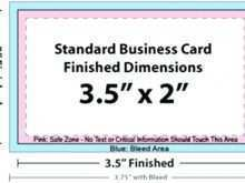 70 Blank Standard Business Card Size Illustrator Template with Standard Business Card Size Illustrator Template