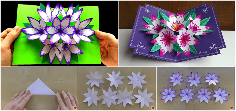 70 Create 3D Flower Pop Up Card Tutorial Step By Step Layouts by 3D Flower Pop Up Card Tutorial Step By Step