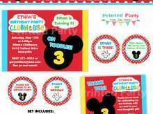 70 Creating Mickey Thank You Card Template Formating with Mickey Thank You Card Template