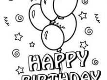 70 Creative Happy Birthday Card Template To Color For Free for Happy Birthday Card Template To Color