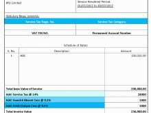 Service Tax Invoice Format 2018