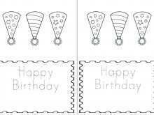 70 Customize Happy Birthday Card Template To Color Templates with Happy Birthday Card Template To Color