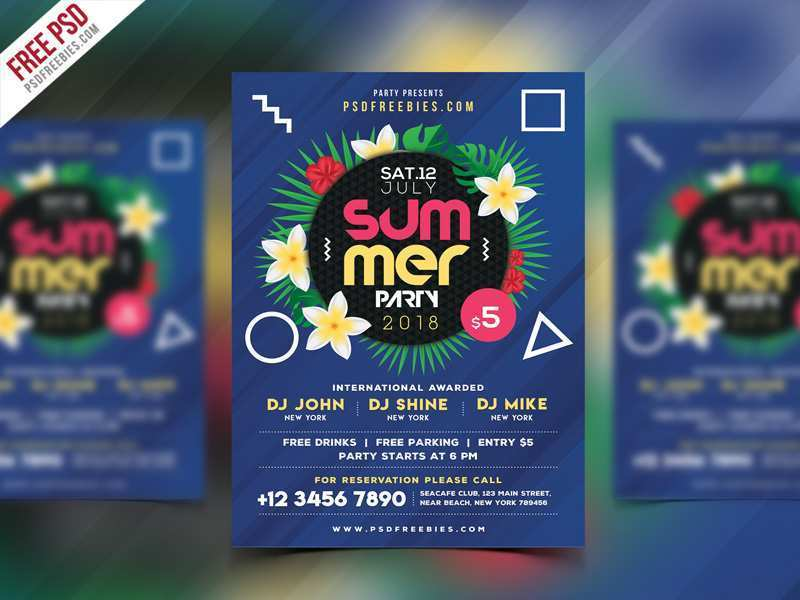 70 Customize Our Free Beach Party Flyer Template Free Psd Templates by Beach Party Flyer Template Free Psd