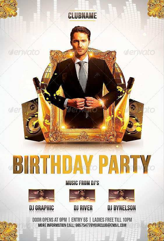 70 Customize Our Free Birthday Invitation Flyer Template Now for Birthday Invitation Flyer Template