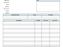 70 Customize Our Free Blank Invoice Format Excel PSD File by Blank Invoice Format Excel