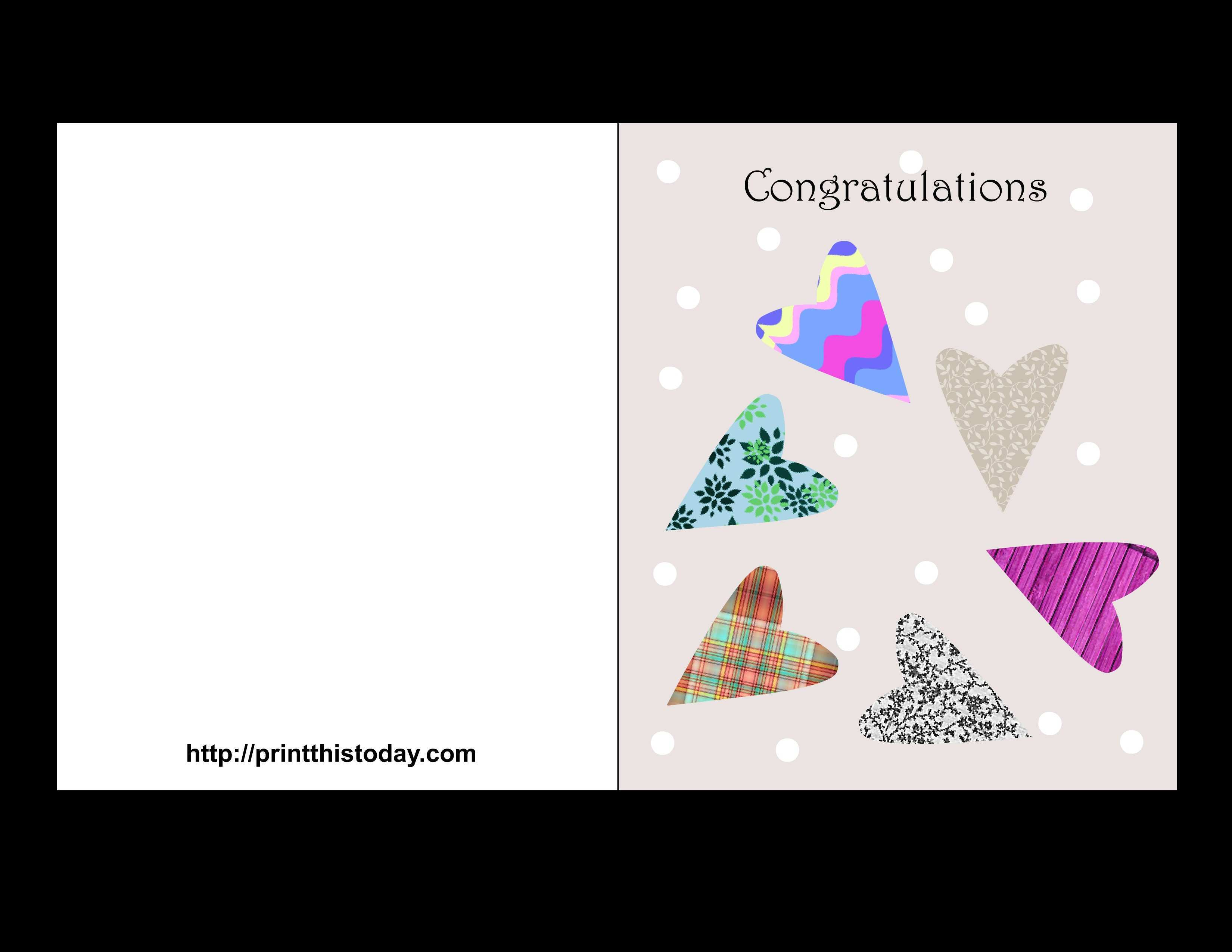 70 Customize Our Free Congratulations Card Template For Word for Congratulations Card Template For Word