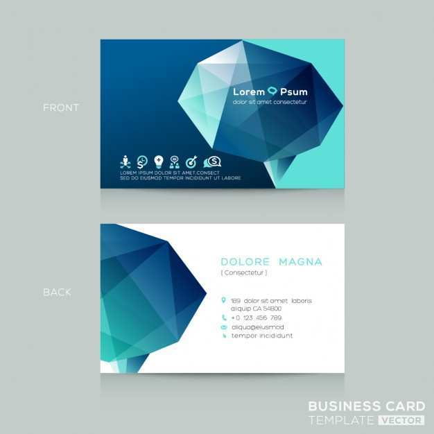70 Format 3D Business Card Template Free Download for Ms Word with 3D Business Card Template Free Download