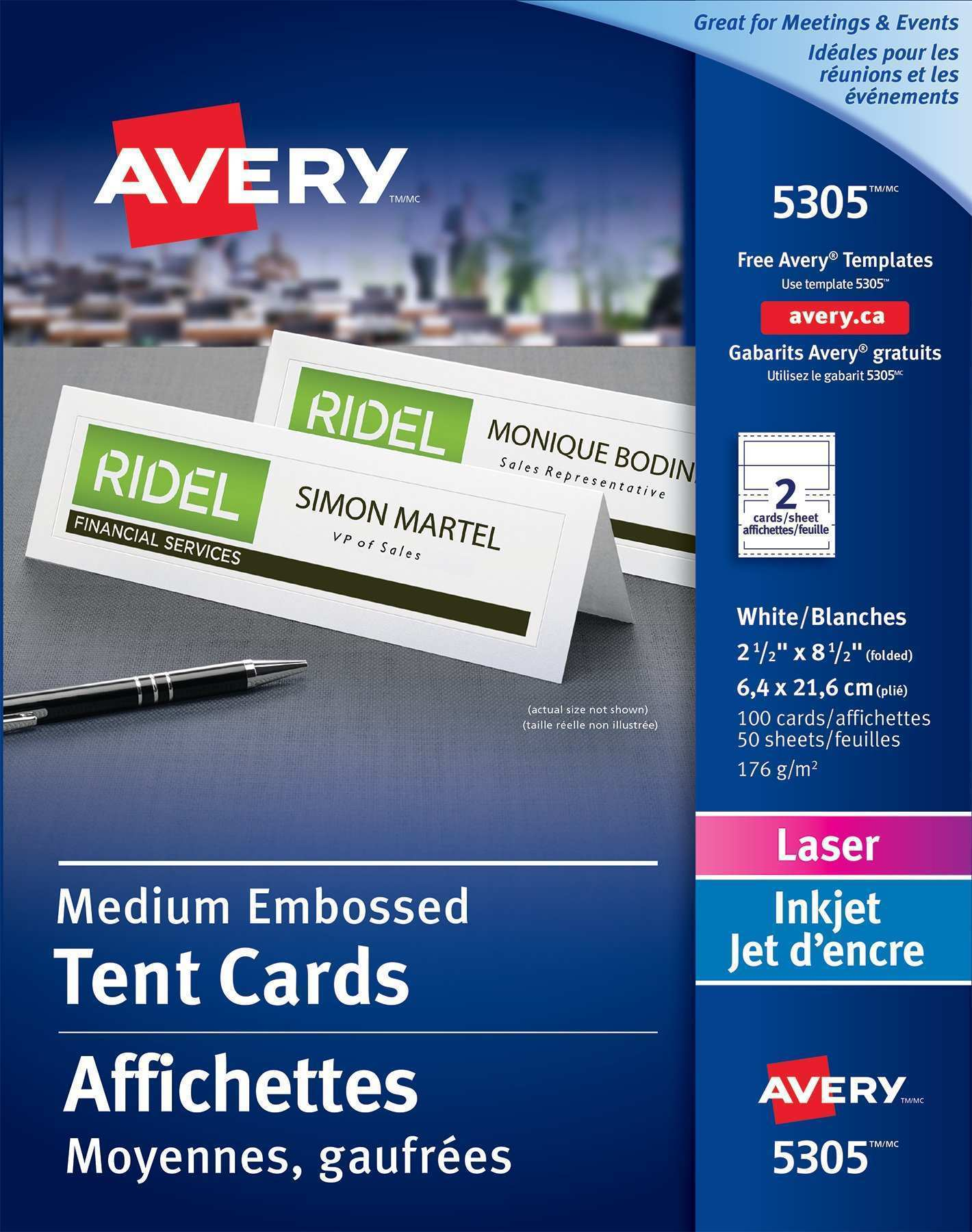 70 Free Printable Avery Laser Tent Card 5305 Template for Ms Word for Avery Laser Tent Card 5305 Template