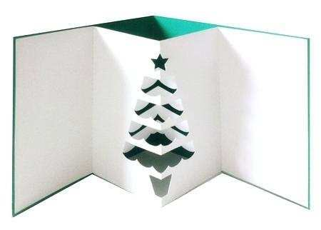 Pop Up Card Templates Christmas Tree - Cards Design Templates