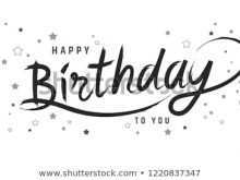 Birthday Card Lettering Template