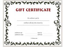 Make A Gift Card Template