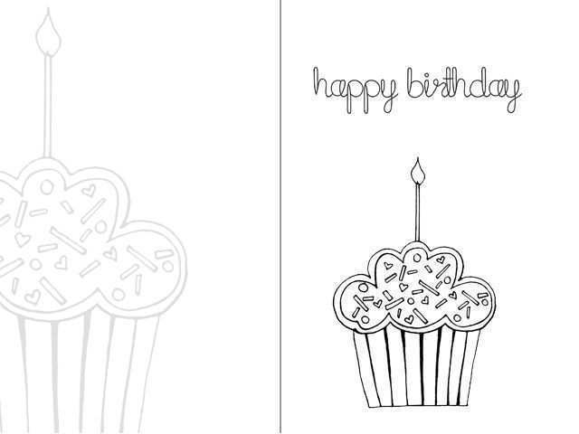 70 Printable Birthday Card Templates To Print Templates With Birthday Card Templates To Print Cards Design Templates