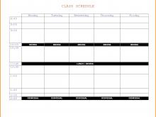 70 Printable Class Schedule Template Maker Maker by Class Schedule Template Maker