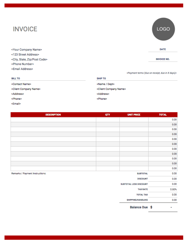 Hotel Commission Invoice Template - Cards Design Templates