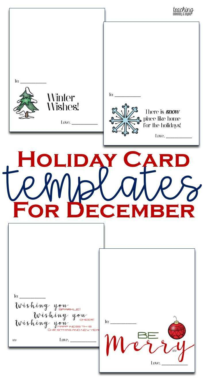 70 Standard Christmas Card Templates For Students For Free with Christmas Card Templates For Students