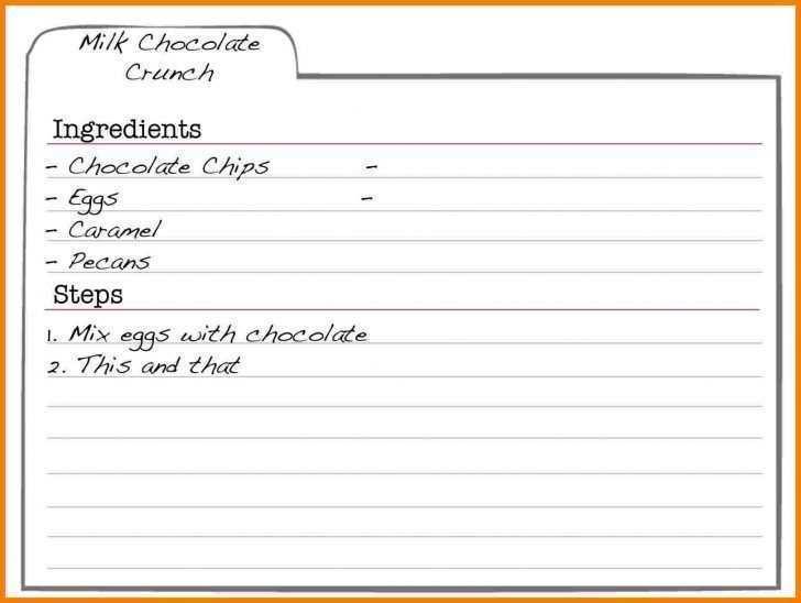 70 Standard Free Editable Recipe Card Template For Word For Ms Word With Free Editable Recipe Card Template For Word Cards Design Templates