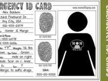 70 The Best Emergency Id Card Template in Photoshop with Emergency Id Card Template