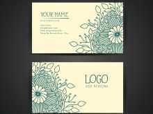 70 Visiting Floral Business Card Template Free Download Layouts with Floral Business Card Template Free Download