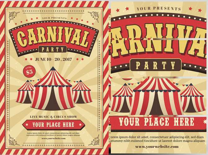 71 Adding Carnival Themed Flyer Template Layouts with Carnival Themed Flyer Template