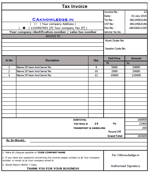 71 Best Kerala Vat Invoice Format For Free By Kerala Vat Invoice Format Cards Design Templates