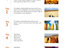 71 Blank 4 Day Travel Itinerary Template for Ms Word with 4 Day Travel Itinerary Template