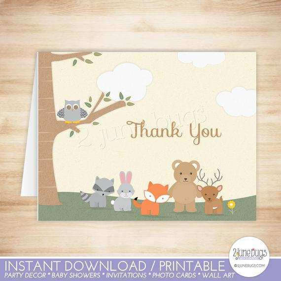 71 Blank Animal Thank You Card Template Download by Animal Thank You Card Template