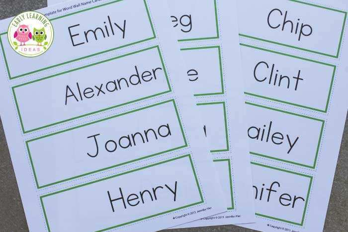 71 Create Name Card Template Preschool by Name Card Template Preschool
