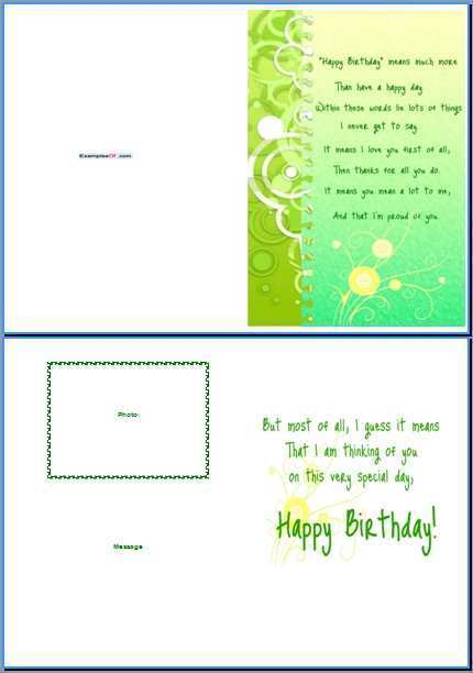 71 Creating Birthday Card Template In Word With Stunning Design by Birthday Card Template In Word