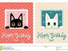 71 Customize Birthday Card Template Cat Formating with Birthday Card Template Cat