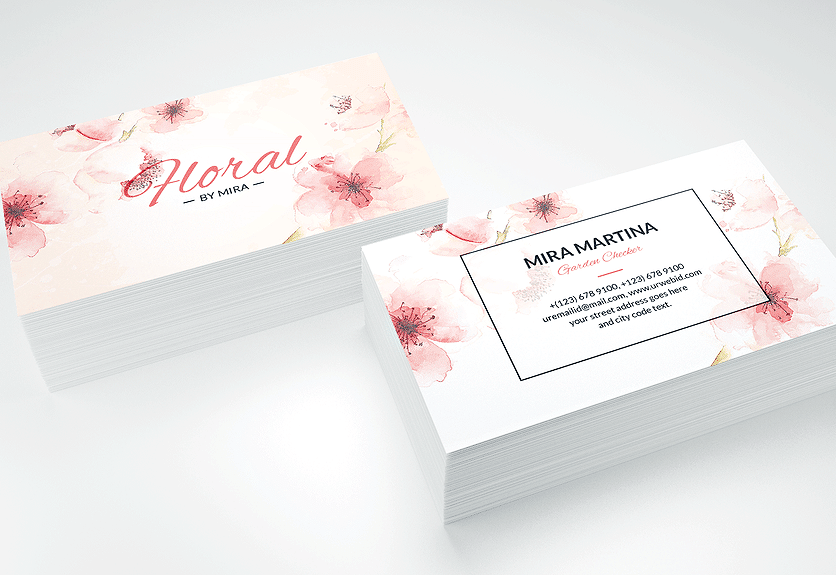 71 Free Floral Business Card Template Psd Photo for Floral Business Card Template Psd