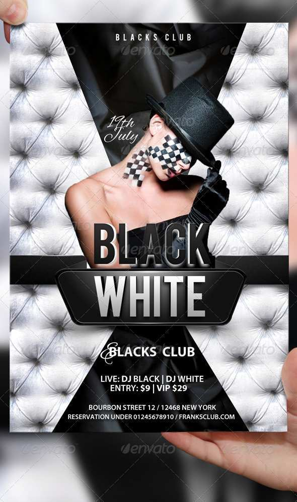 71 Online Black And White Party Flyer Template With Stunning Design by Black And White Party Flyer Template