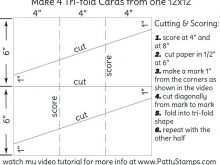 71 Printable 3 Fold Card Template Layouts with 3 Fold Card Template