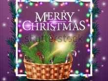Christmas Card Basket Template