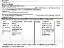 71 Report Construction Contractor Invoice Template in Word by Construction Contractor Invoice Template