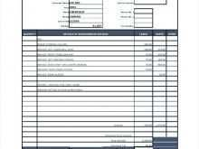 Electrical Repair Invoice Template