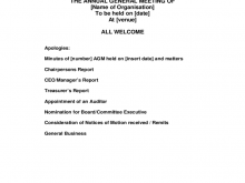 71 Standard Template Of Agm Agenda in Photoshop by Template Of Agm Agenda