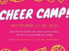 71 The Best Cheer Camp Flyer Template Maker for Cheer Camp Flyer Template