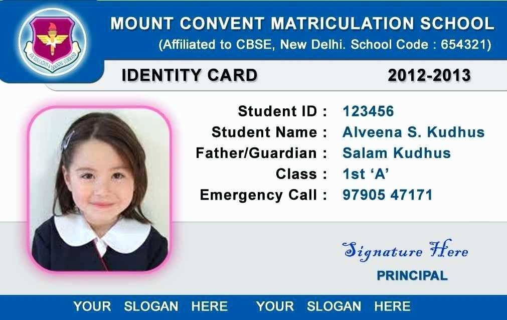 udin: Get 45+ Student Id Id Card Design Template Free ...