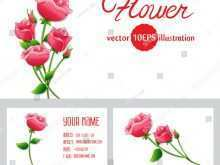 71 Visiting Flower Card Templates Zip in Photoshop with Flower Card Templates Zip