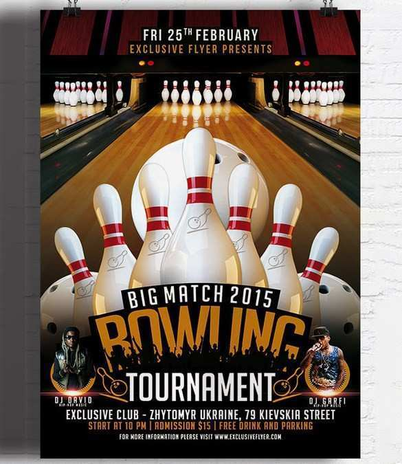 72 Adding Bowling Flyer Template Free For Free with Bowling Flyer Template Free