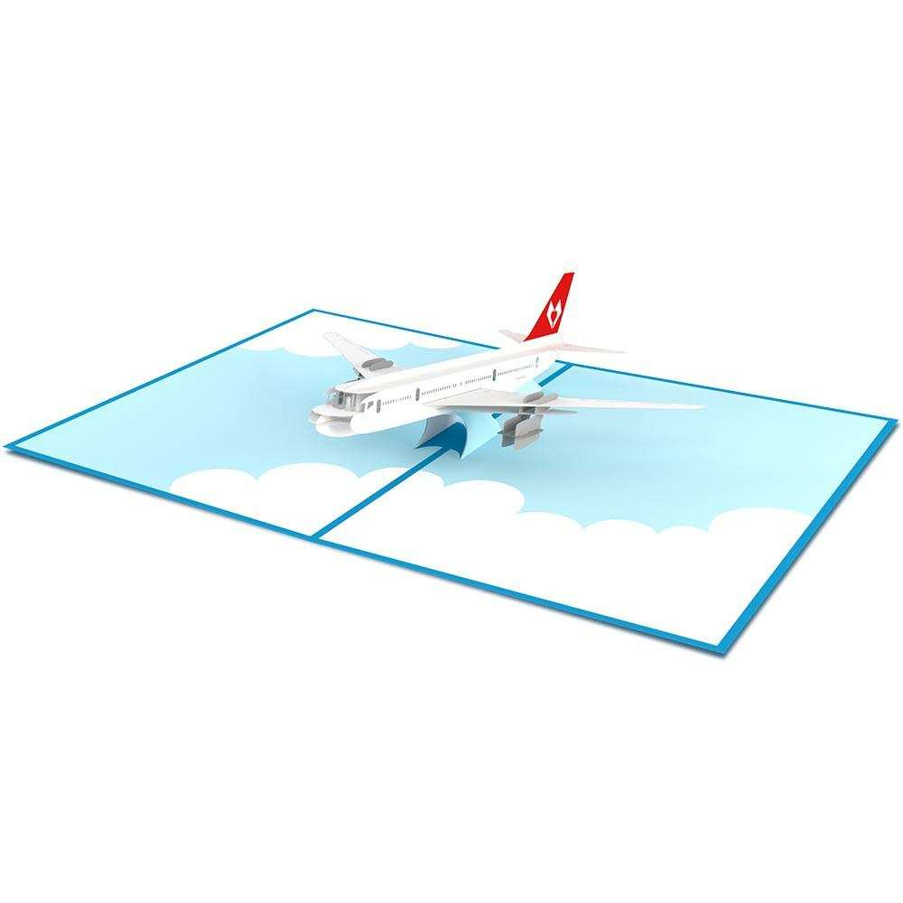 72 Airplane Pop Up Card Template for Ms Word by Airplane Pop Up Card Template