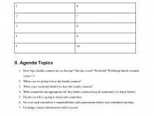72 Best Agenda Template For Family Meetings Maker with Agenda Template For Family Meetings