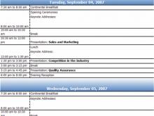 Conference Agenda Template Doc