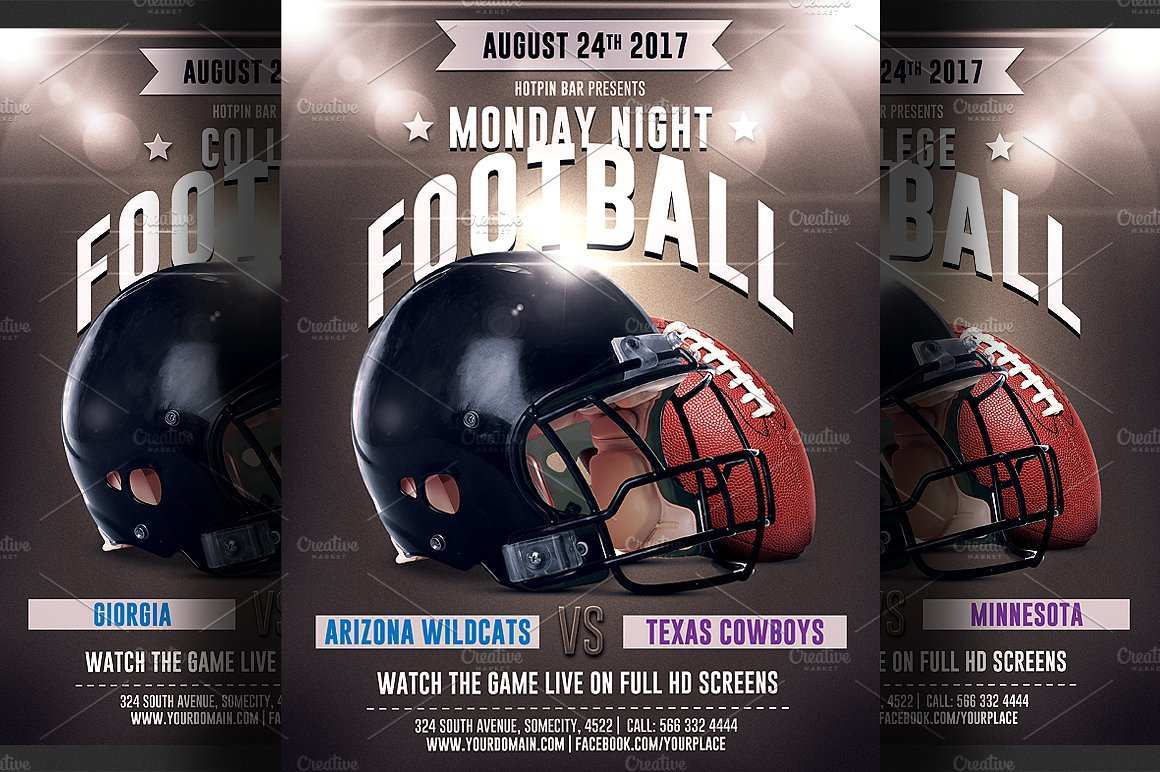 72 Best Football Flyer Templates in Photoshop for Football Flyer Templates