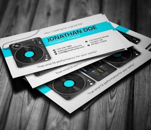 Dj Business Card Template Psd Free Download - Cards Design ...