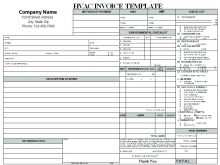 72 Creative Ac Repair Invoice Template Now for Ac Repair Invoice Template