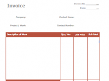 72 Creative Basic Personal Invoice Template For Free with Basic Personal Invoice Template