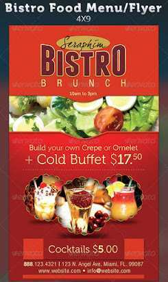 72 Creative Brunch Flyer Template Free Photo for Brunch Flyer Template Free