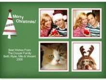 72 Creative Cat Christmas Card Template With Stunning Design with Cat Christmas Card Template